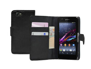 new style 9ad15 30f6a Details about Wallet Leather Flip Case Cover Pouch for Sony Xperia Z1  Compact / D5503