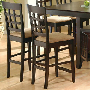 Sensational Details About Mix Match Set Of 2 Dining Counter Height Chairs Stools Fabric Seat Cappuccino Creativecarmelina Interior Chair Design Creativecarmelinacom