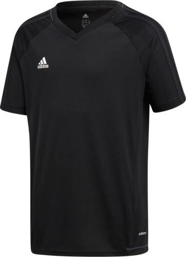 Black adidas Tiro 17 Junior Short Sleeve Training Top
