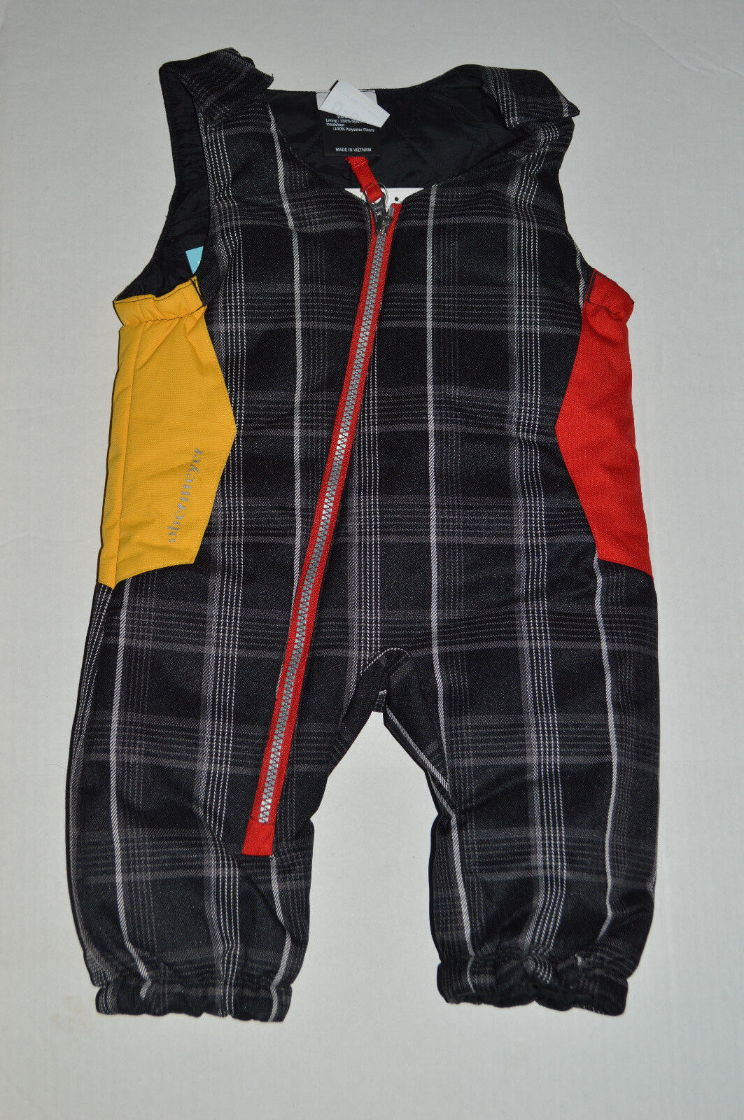 NWT Infant Boy 0-6 Mo Obermeyer Blue//Red Plaid Winter Jacket//Coat~Snowpants $149