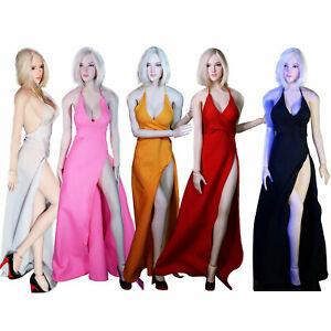 "1//6 Black Evening Dress Long Skirt F 12/"" PHICEN Big Breast Female Figure Body"
