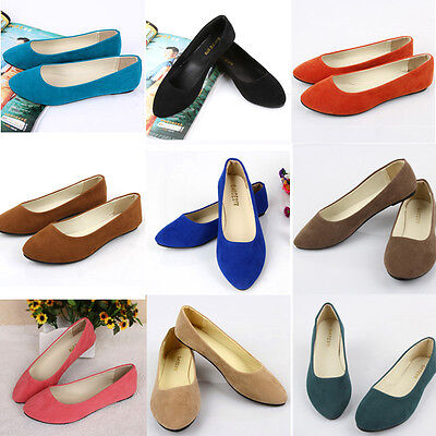 New Women Ballerina Loafers Flats Ballet Casual Slip On Single Flat Candy Shoes