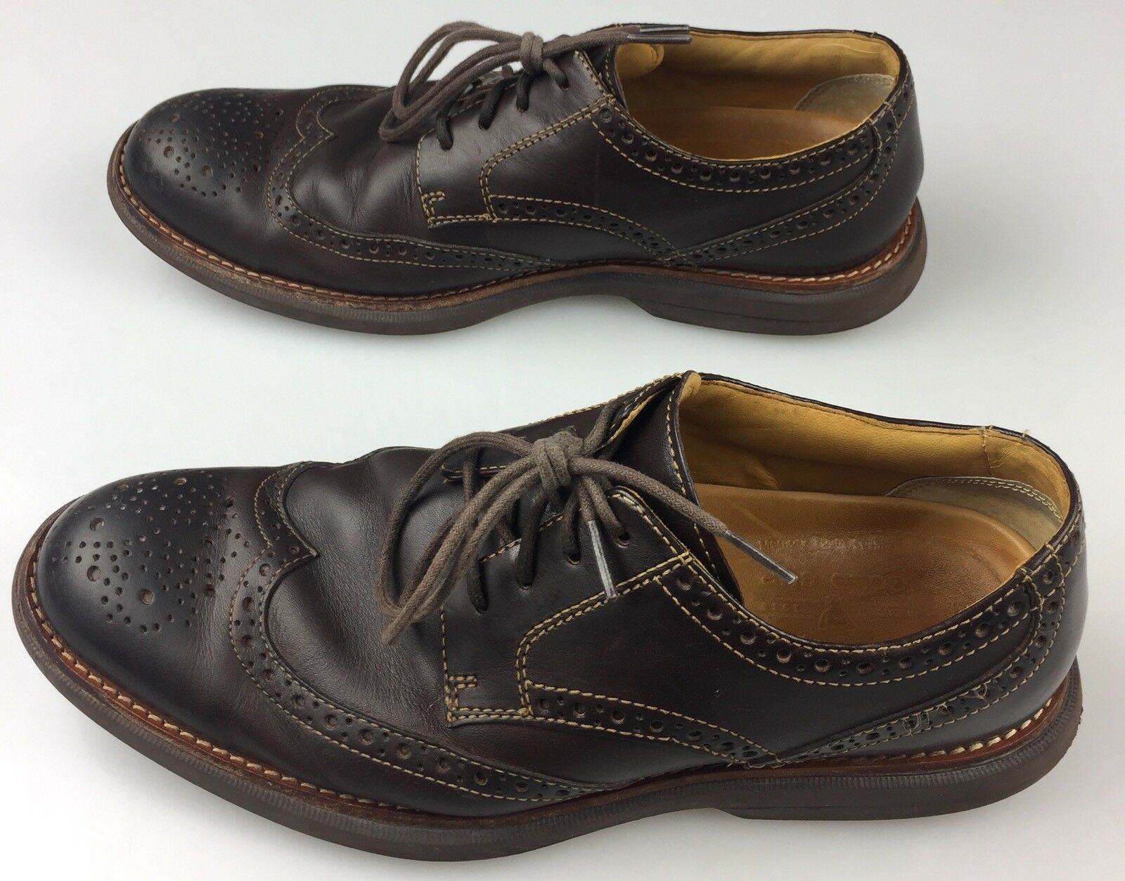 Uomo Dark 9M Sperry Gold Cup Bellingham Wingtip Oxford Brogue Dark Uomo marrone Pelle Shoe 1ac733