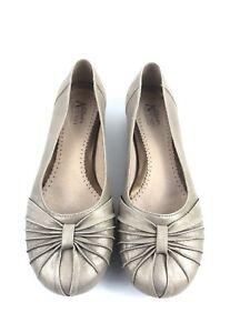 Details about Clarks Artisan Collection Metallic Gold Leather Suede Ballet Flats Sz 6.5 EUC