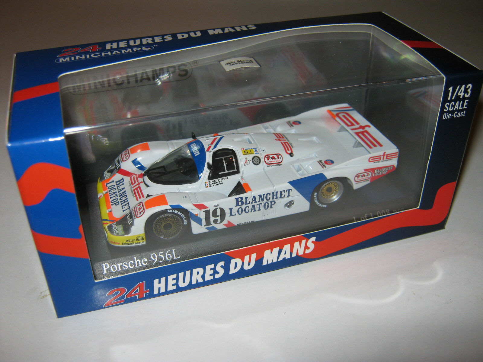1 43 PORSCHE 956 L Boutsen Theys LeMans 1986 1986 1986 Minichamps 430866519 new neuf dans sa boîte L.E. 4c42aa