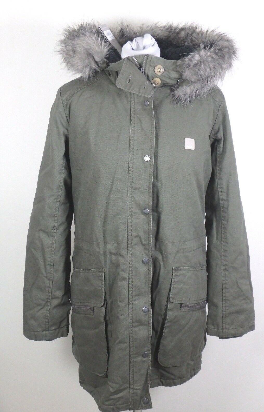 9750b50c74bf22 Bench 27972 Wolfish B Jacke Parka Winterjacke Mantel Winter Damen Gr. M Oliv