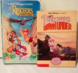 The-Rescuers-Down-Under-1990-film-VHS-and-Movie-Tie-In-Paperback