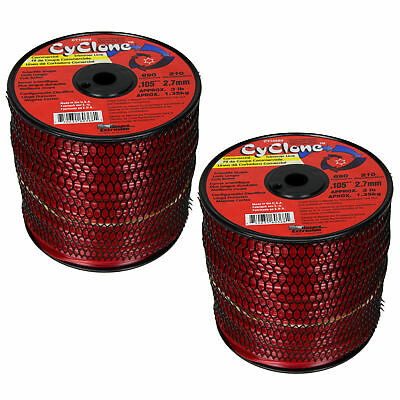 """Cyclone CY095D1 .095/"""" 570 Feet Commercial Grass Weed String Trimmer Edger Line"""