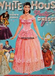 VINTAGE UNCUT 1961 WHITE HOUSE PARTY DRESSES PAPER DOLLS REPRODUCTION~FANTASTIC!