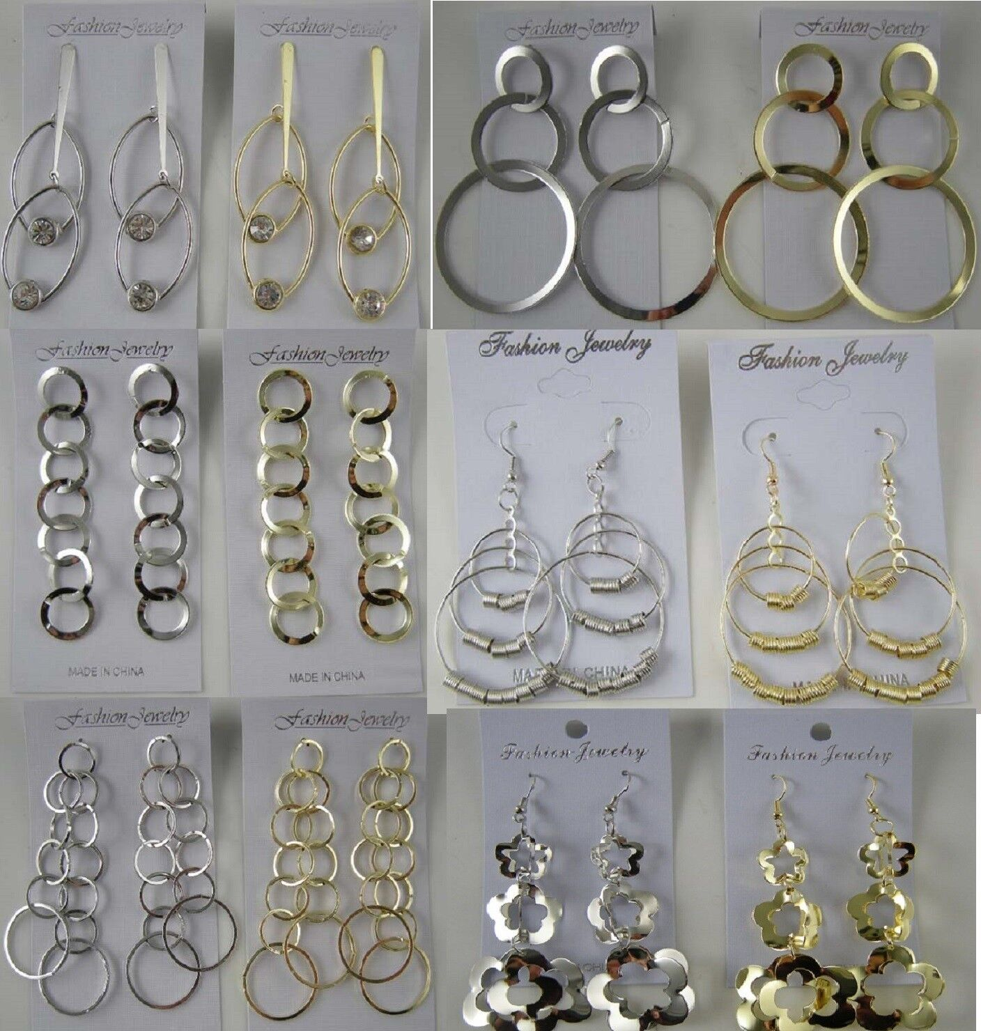 A-151 Wholesale Jewelry lot 200 pairs Mixed Style Fashion Dangle Earrings Plated