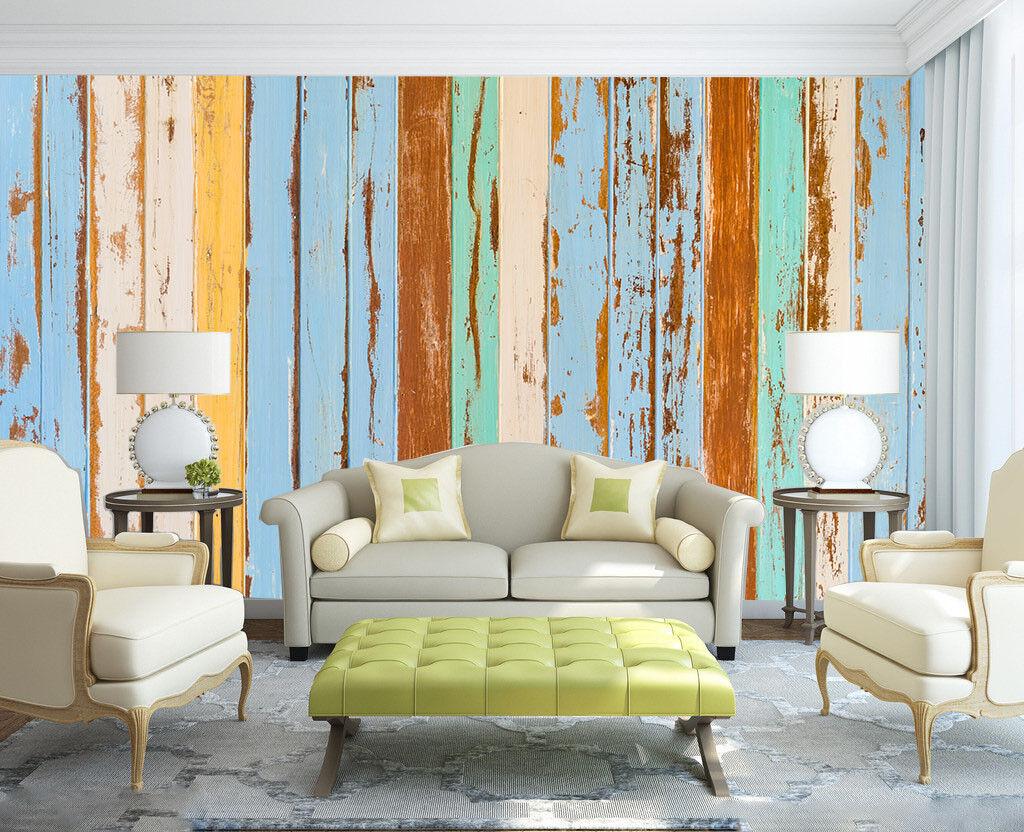 3D Farbiges Holz  47 Tapete Tapeten Mauer Foto Familie Tapete Wandgemälde DE
