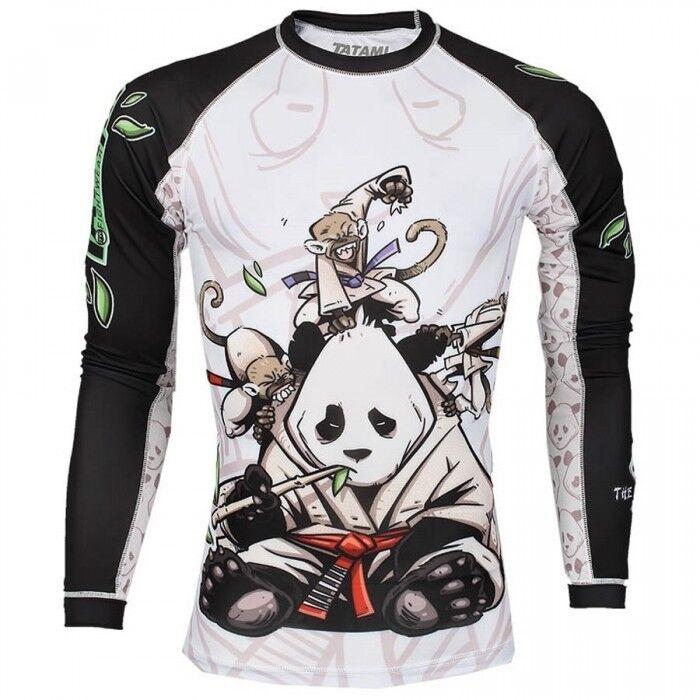 Tatami Fightwear Delicato Panda Rash Guard Adulti Bjj TShirt Allenamento Mma