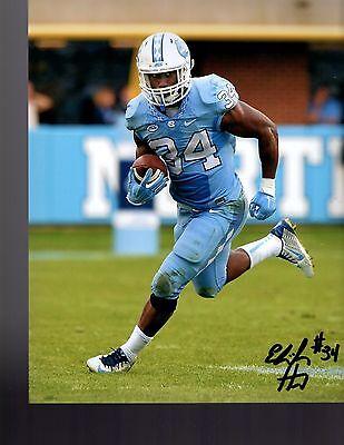 College-ncaa Football Elijah Hood North Carolina Tar Heels Signed 8x10 Photo W/coa #5
