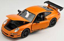 BLITZ VERSAND Porsche 911 997 GT3 RS orange Welly Modell Auto 1:24 NEU