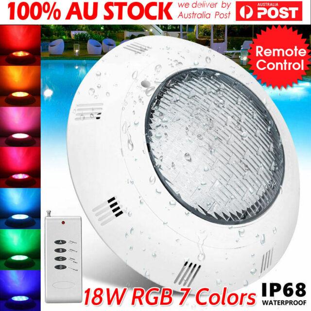 Swimming Pool RGB 7 Colors Underwater Lamp LED RGB Model Spa  Light Remote AU