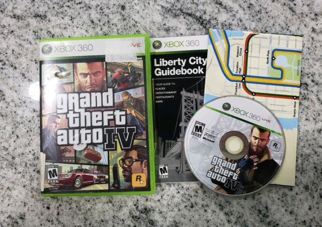 Grand Theft Auto IV XBOX 360  w/Map FREE FAST SHIPPING