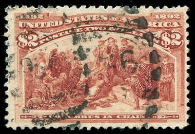 Briefmarken Us Briefmarken #242 Gebraucht F/vf Momen