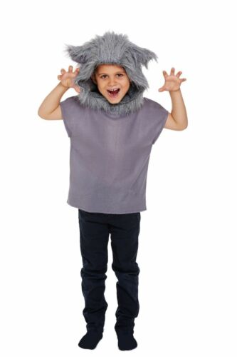 WOLF COSTUME BOYS GIRLS HALLOWEEN BOOK WEEK FANCY DRESS OUTFITS