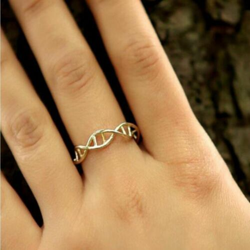 DNA Shape Best Friend Science Ring Chemistry Ring Finger Ring Statement Rings