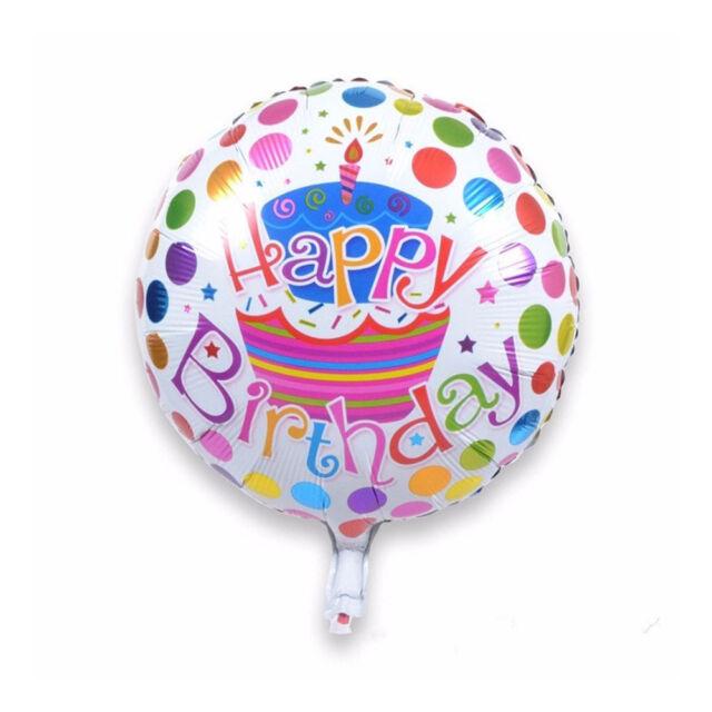18 inches Aluminum Foil Cartoon Happy Birthday Party Decor Round Balloons