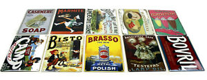 VINTAGE-RETRO-WARTIME-ADVERTISING-SIGNS-METAL-ENAMEL-20-x-14-5cm-NEW