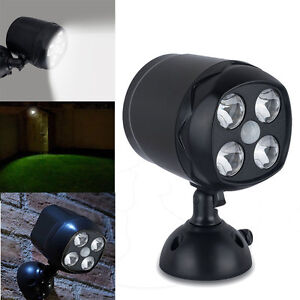 Motion Sensor Pir Wall Spotlight Battery Powered Led