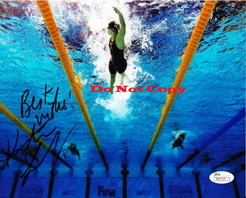 Katie Ledecky Swimming Olympics autographed 8x10 photo RP