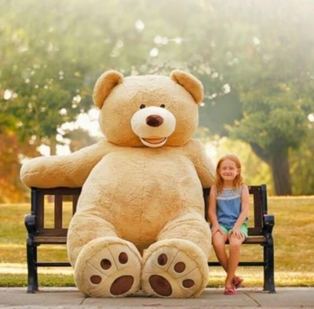 200cm Giant Teddy Bear Plush Bedding Cotton Big Stuffed Kid Animal Birthday Gift