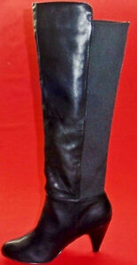 Women's FERGIE BARBARA Black Heel Casual Pull on Fashion Evening Dress Boots New