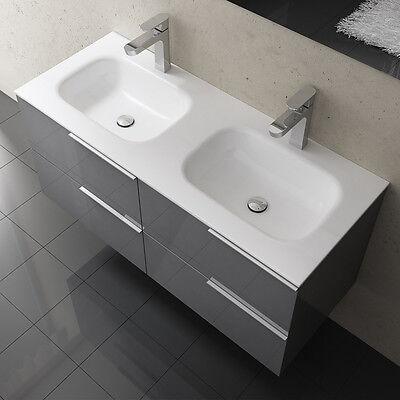 Badmobel Badezimmermobel Badezimmer Waschbecken Waschtisch Hochglanz Vanessa1200 Ebay