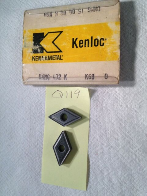 4 NEW KENNAMETAL DNMG 432 K CARBIDE INSERTS. DNMG 15 04 08 K. GR. K68. {Q119}
