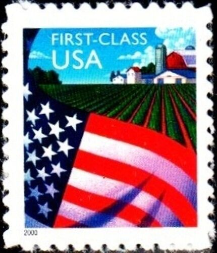 2000 34c Flag over Farm, SA Scott 3449 Mint F/VF NH