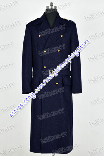 Who Cosplay Doctor Torchwood Captain Jack Harkness Costume Navy Coat Tailor Made