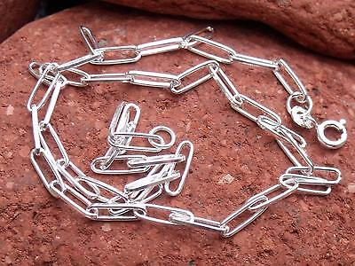 """16"""" 925 SILVER LONG LINK CHAIN/NECKLACE SILVERANDSOUL HANDCRAFTED JEWELLERY"""