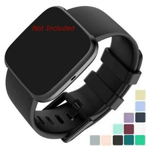Silicone Watch Strap Band Men's Women's Compatible with Fitbit Versa 1, 2, Lite