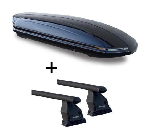 Coffre de toit vdpmaa 320 320 L Barres de toit Menabo Tema pour BMW 1er e87 04-07 Acier
