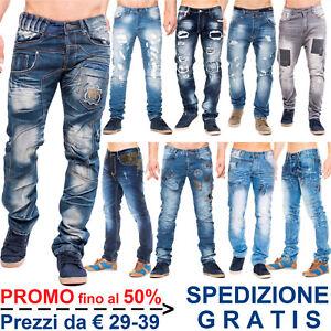 Pantaloni-Jeans-da-Uomo-Denim-a-Vita-Bassa-alla-Moda-per-Casual-Regular-Slim-Fit