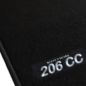 tapis sol moquette logo blanc sur mesure peugeot 206cc pack sport roland garros ebay. Black Bedroom Furniture Sets. Home Design Ideas