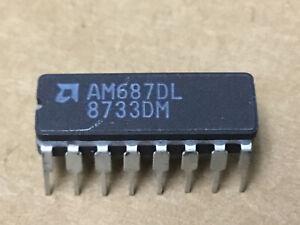 (1 PC)  AMD  AM687DL   Voltage Comparator, Dual, 16 Pin, Ceramic, DIP