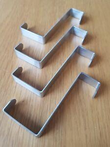 Image Is Loading STAINLESS STEEL REVERSIBLE OVER DOOR HOOKS HANGERS FOR