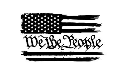 Distressed American Flag We The People Constitution Usa Freedom Decal Sticker Ebay