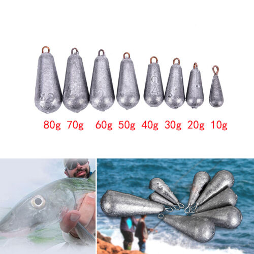 5× Drop Shot Water droplets Finesse Weight Lead Sinker Terminal with Rigs /_WK