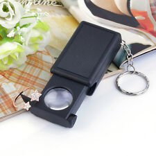 Mini Illuminated 45X Jewelers Loupe Magnifier Magnifying Glass with LED Light HH
