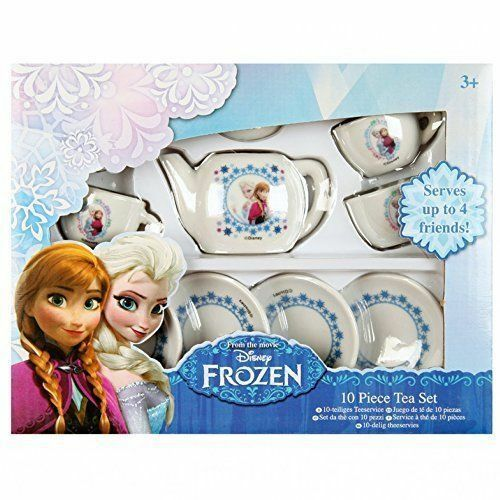 Disney Frozen 13 Piece Porcelain Tea Set Tea Party Pretend Play Activity Toy