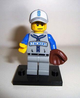 Joueur de base-ball A581 Lego minifigure série 10
