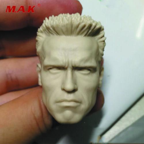 1//6 Resin Unpainted Figure Head Sculpt Arnold Schwarzenegger Devil Commander