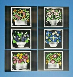 Set-of-6-NEW-Basket-of-Flowers-Art-Postcards-Postcrossing-amp-Postcardsofkindness