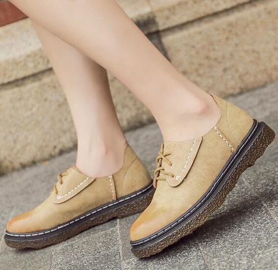 botas bajo zapatos bajo mujer beis elegantes como piel 9134