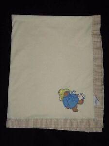 Quiltex-Paddington-Bear-Baby-Blanket-1980-Eden-Vintage-Beige