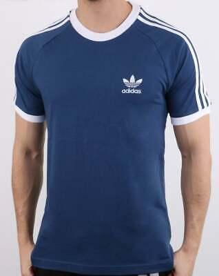 Adidas 3 Stripes T Shirt in Blue - trefoil, originals, navy, three stripe SALE   eBay